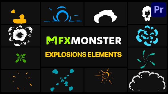 Photo of Explosion Elements | Premiere Pro MOGRT – Videohive 32067681