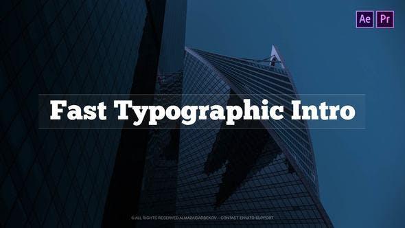 Photo of Fast Typographic Intro – Videohive 23252244