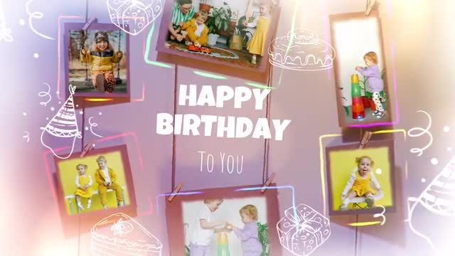 Photo of Happy Birthday Photo Frames – MotionArray 967569