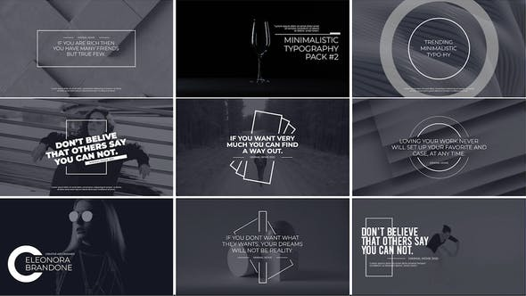 Photo of Minimal Typography Pack 3 – Videohive 31997145