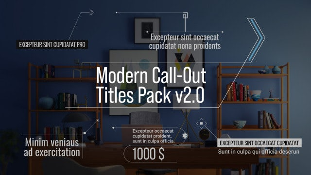 Photo of Modern Call-Out Titles Pack V2.0 – MotionArray 960586
