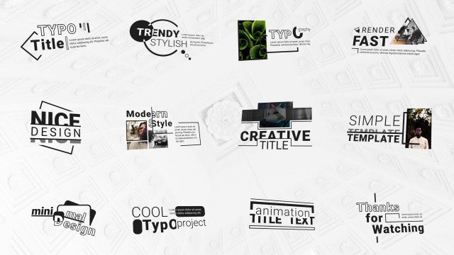 Photo of Modern Typo Titles Pack – MotionArray 969271