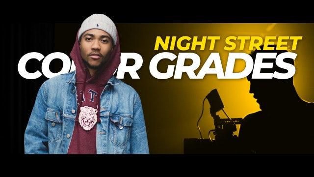 Photo of Night Street Color Grades – MotionArray 959489