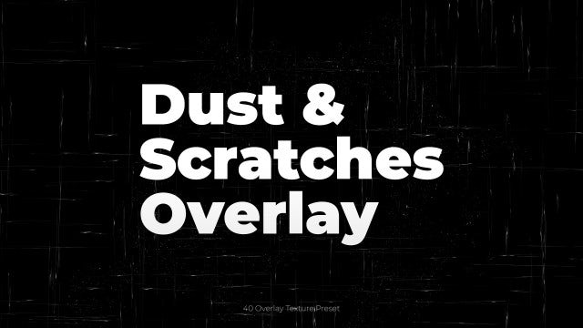 Photo of Dust & Scratches Overlay – MotionArray 968747