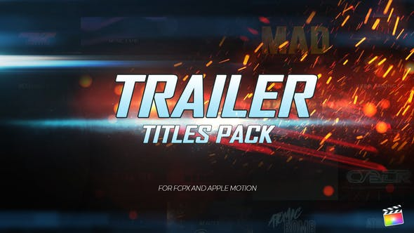 Photo of Trailer Titles Pack for Apple Motion and FCPX – Videohive 22861181