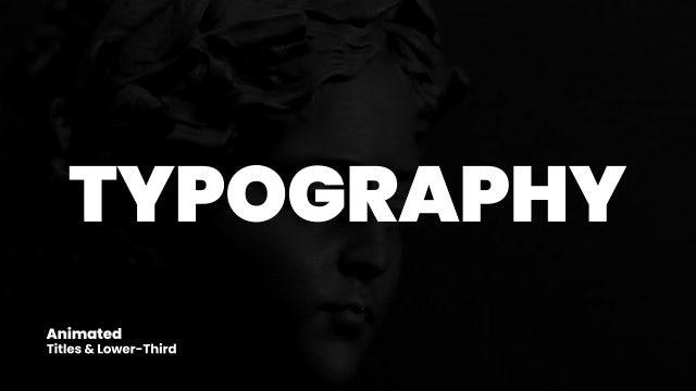 Photo of Typography – MotionArray 954252