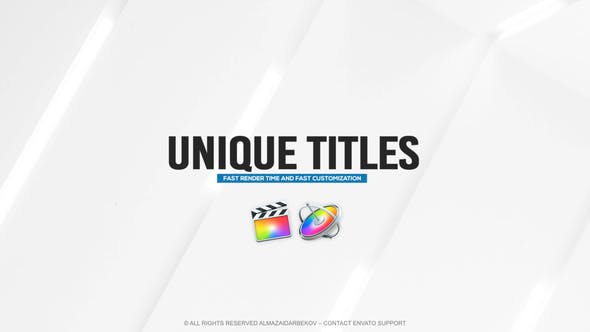 Photo of Unique Titles for FCPX – Videohive 32039501
