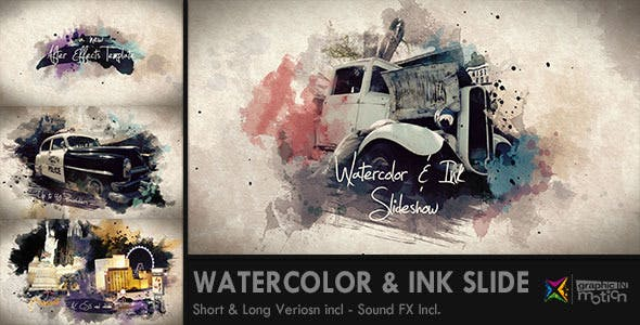Photo of Watercolor & Ink Slideshow – Videohive 8514684