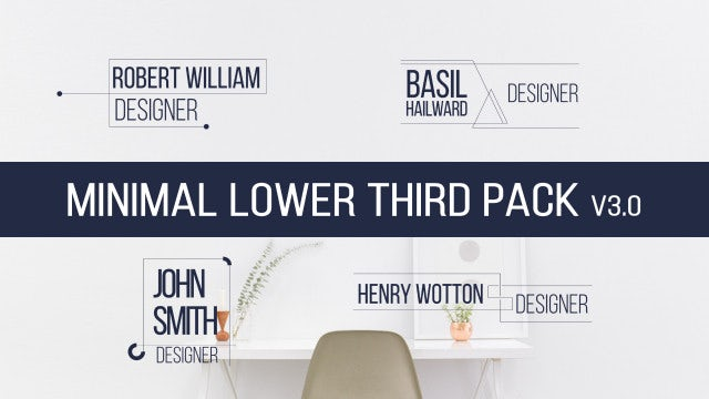 Photo of Minimal Lower Third Pack V3.0 – MotionArray 969164