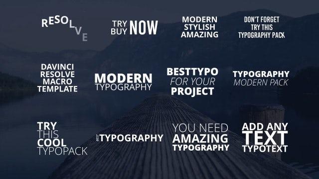 Photo of Modern Typo Pack – MotionArray 981285