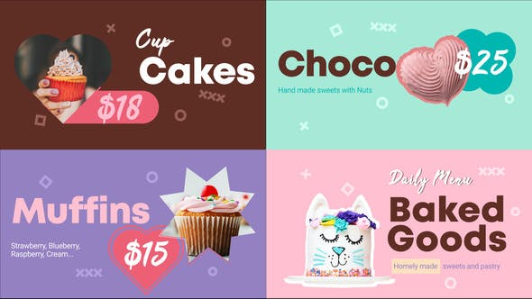 Photo of Baked Goods Menu    FCPX – Videohive 33200417