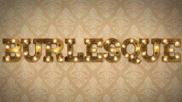 Photo of Burlesque Light Bulb Letters – Videohive 19468356