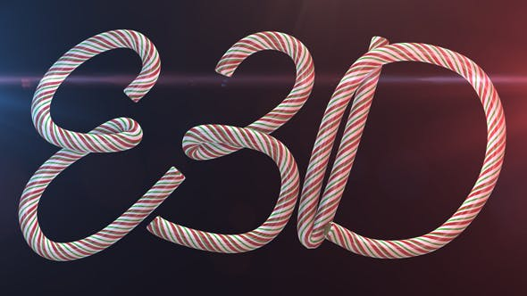 Photo of Candy Cane Letters E3D – Videohive 20988594
