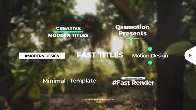 Photo of Creative And Clean Titles Package – MotionArray 999025