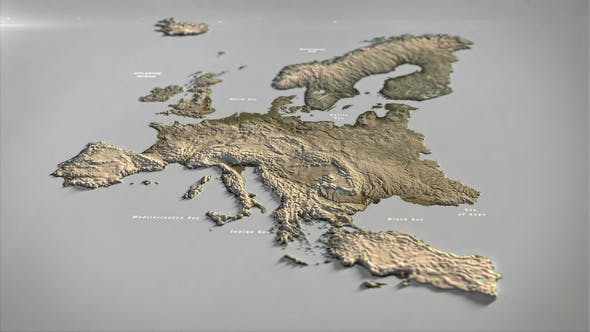 Photo of Europe Map DR – Videohive 33140512