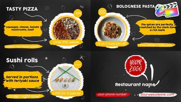 Photo of Food Menu Slideshow   FCPX – Videohive 33152678