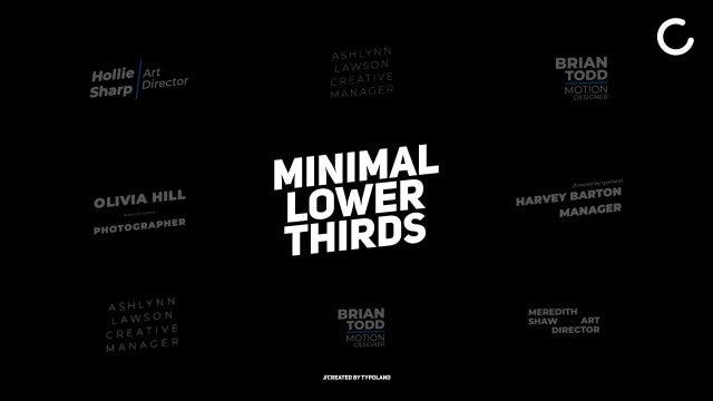 Photo of Minimal Lower Thirds – MotionArray 995801