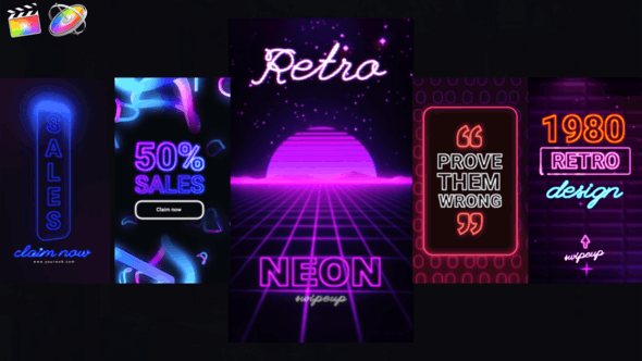 Photo of Neon Instagram Stories – Videohive 33174016