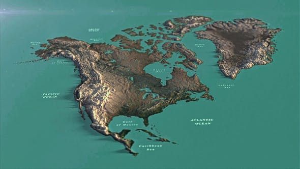 Photo of North America Map DR – Videohive 33139936
