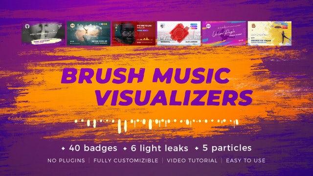 Photo of Brush Music Visualizers – MotionArray 990663