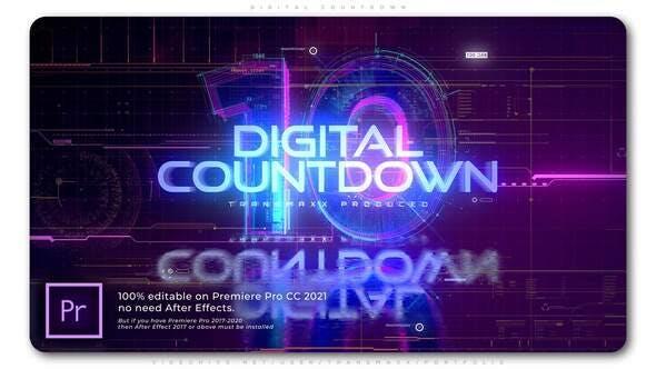 Photo of Digital Countdown – Videohive 33869433