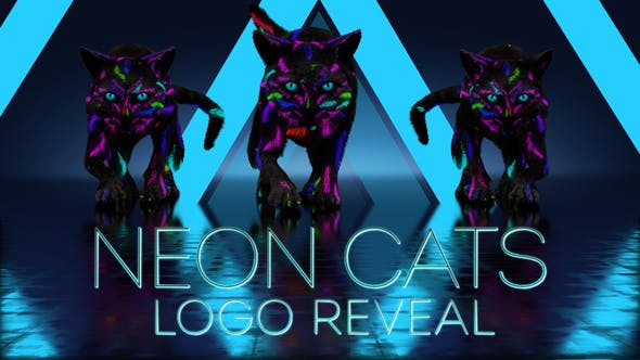 Photo of Neon Cats Logo Reveal – Videohive 26778906