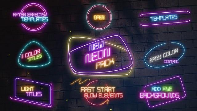 Photo of Neon Titles – MotionArray 985390