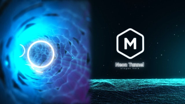 Photo of Neon Tunnel Logo – MotionArray 1004927