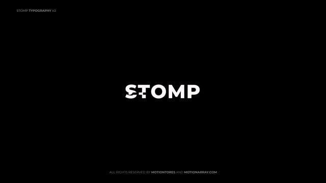 Photo of Stomp Typography V2 – MotionArray 990611