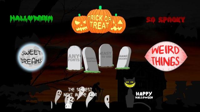 Photo of Halloween Titles – MotionArray 1046833