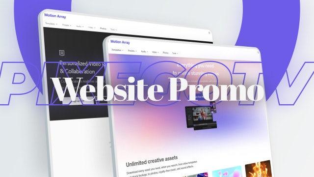 Photo of Website Promo Presentation – MotionArray 1045623